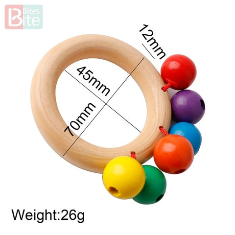 Wooden Coloured Rattle