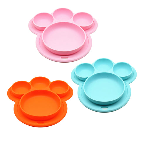 Baby Silicone Plate 4 Compartments
