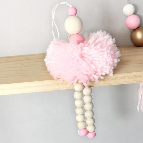 Ballet Girl Wooden Beads Adornment