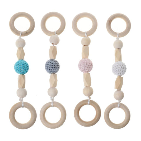 Crochet Beads Wooden Teething String