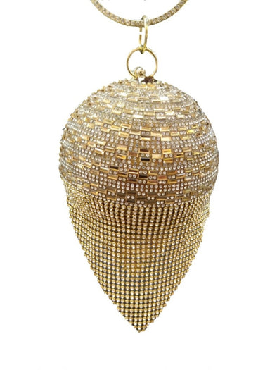 Gold & Crystal Bridal Clutch - Xarrago