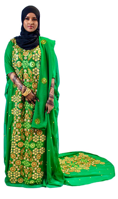 Alluring Green Bridal Dirac Set for Women - Xarrago