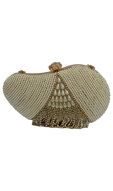 Gold Bridal Pearl Purse - Xarrago