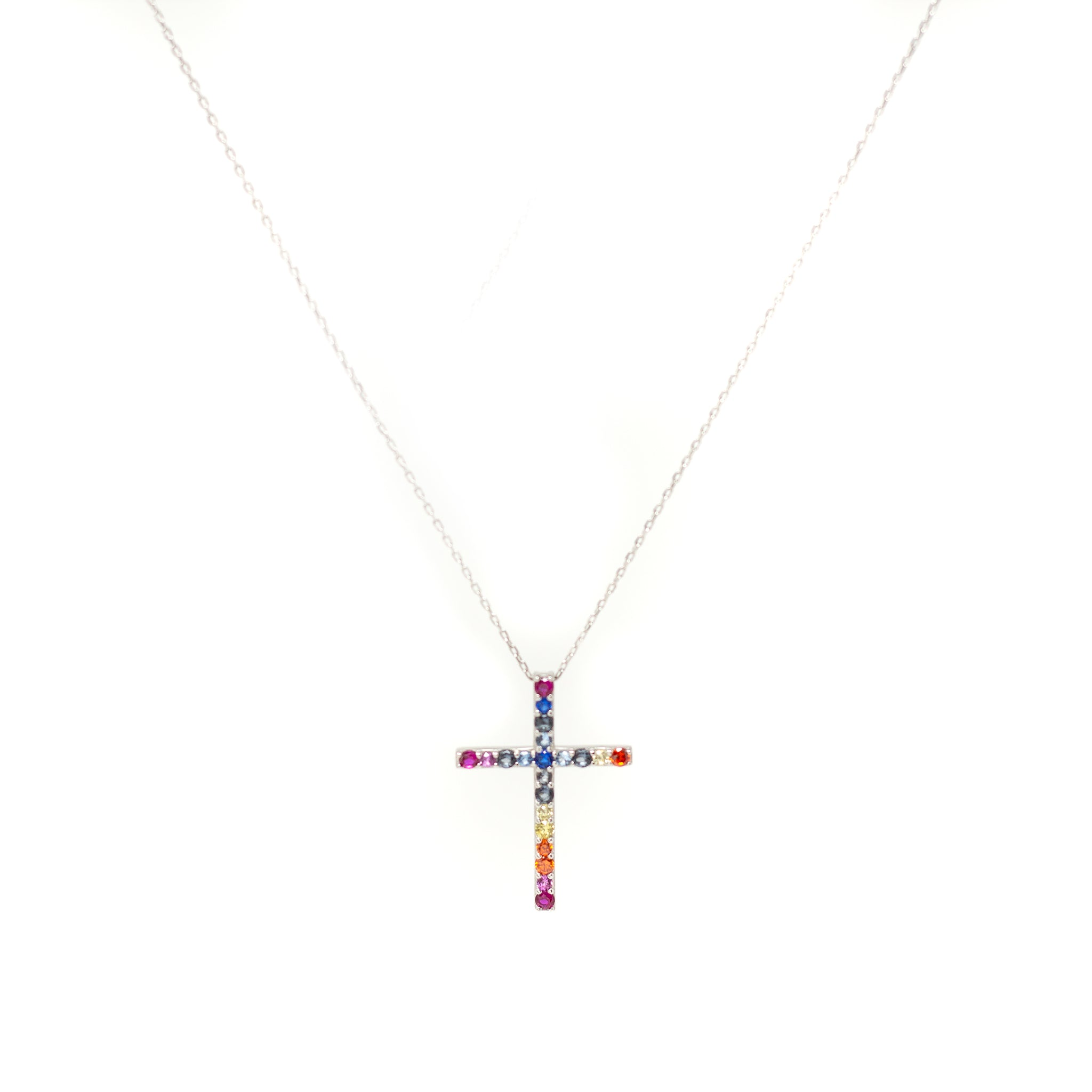 Collar cruz rainbow