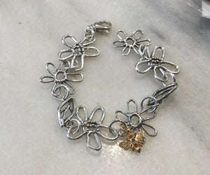 Nature's Summer Sterling Silver Link Bracelet