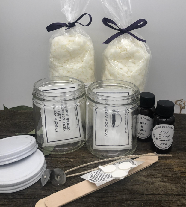 Candle Creation Kit, DIY Candle kit, Customized Candle Kit