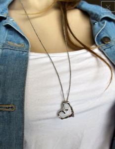 Rustic Heart Necklace