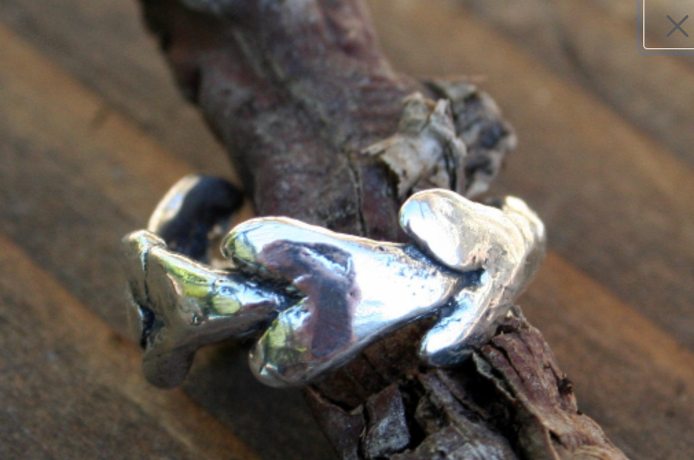 Hearts all Around Sterling Ring
