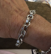 Load image into Gallery viewer, Heavy Artisan Sterling Silver Link Bracelet
