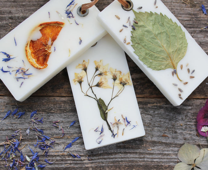 Botanical Sachets Wax Tablet Hostess Gift Wedding Favor