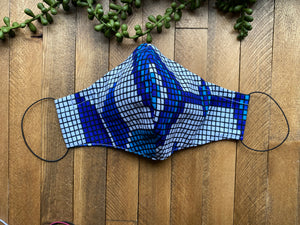 Shades of Blue Ankara Fabric Mask