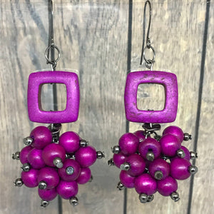 A Bunch of Grape Goodness Statement Earrings