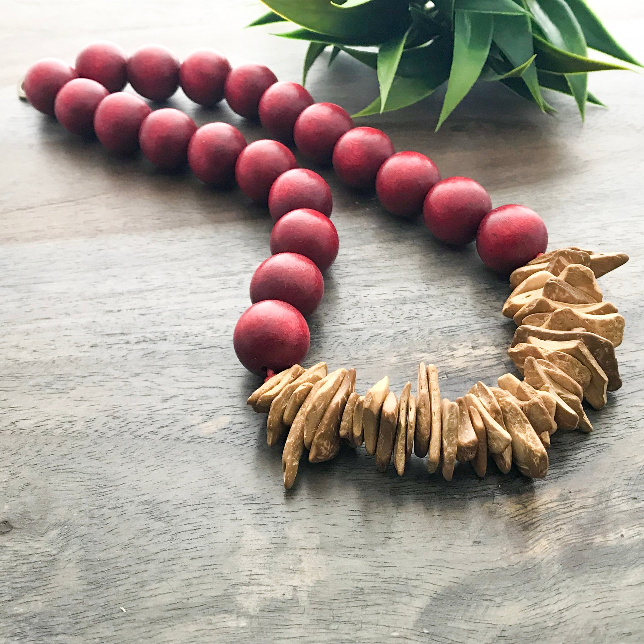 Wood Statement Necklaces