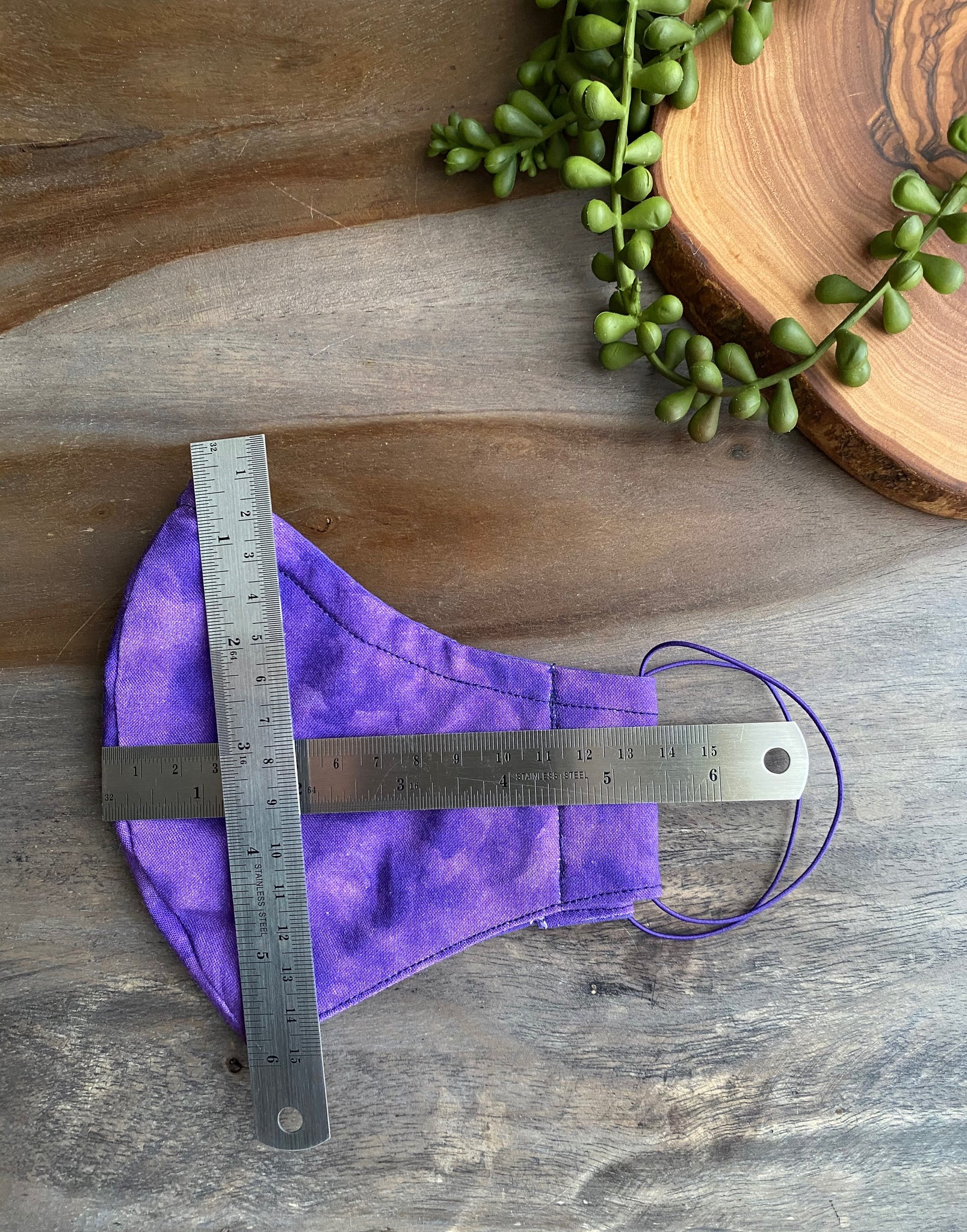 Purple Watercolor Fabric Mask