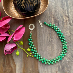 Green Acai Bib Necklace
