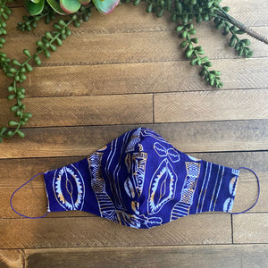 Purple & Gold Ankara Fabric Mask