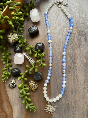 Agate Adinkra Necklace