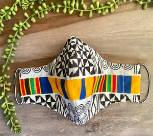 Multicolor Ankara Fabric Mask