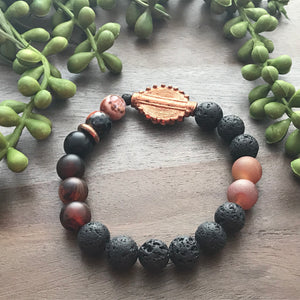 Black & Copper Beaded Bracelet