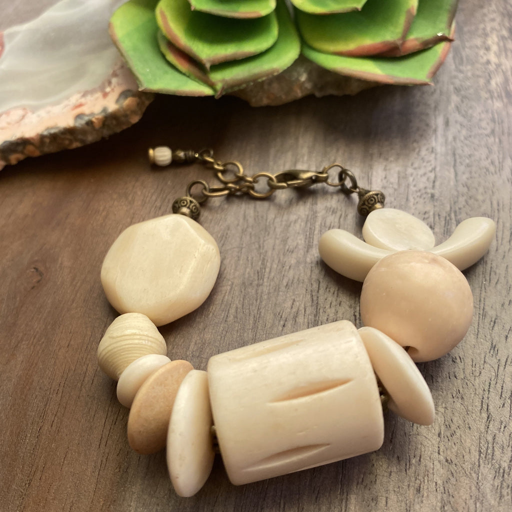 Cream Lobster Clasp Bracelet