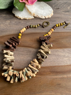 Leather Camo Necklace