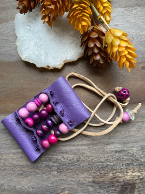 Violet Genuine Leather Cuff