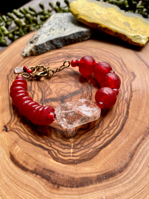 Quartz w/ Red Inclusions Bracelet [Series]