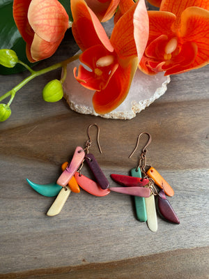 Tagua Stick Earrings