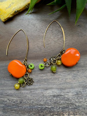 Citrus Kazuri Earrings