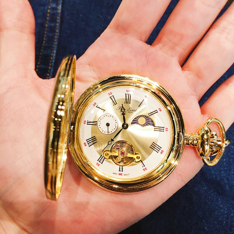Far East manual winding pocket watch