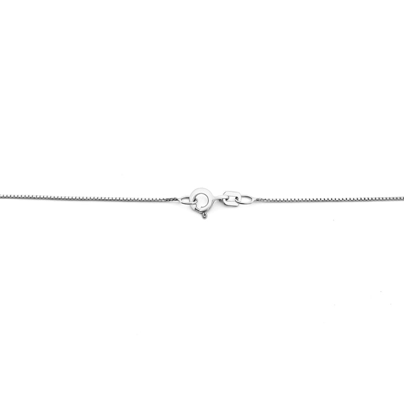 18K (750) White Gold Ladies/ Women Double C Charm Anklet
