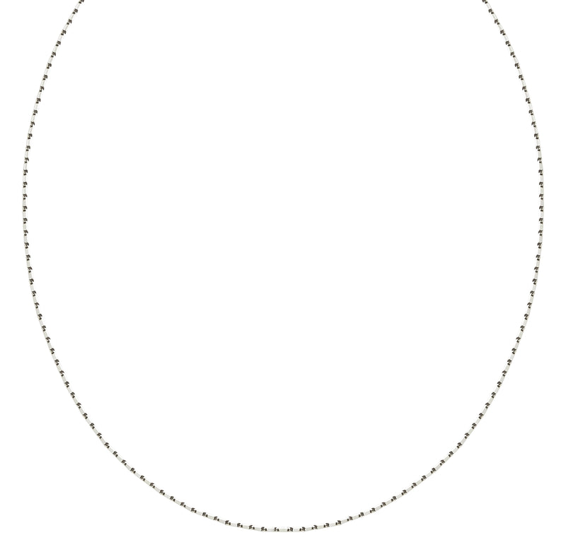 18K (750) White Gold Ladies/ Women/ Kids Flat Link Necklace