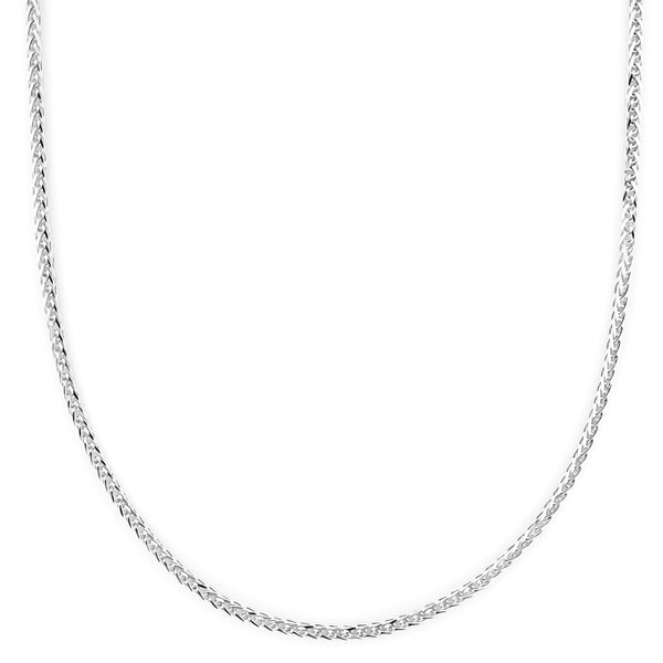 18K (750) White Gold Ladies/ Women Wheat Necklace