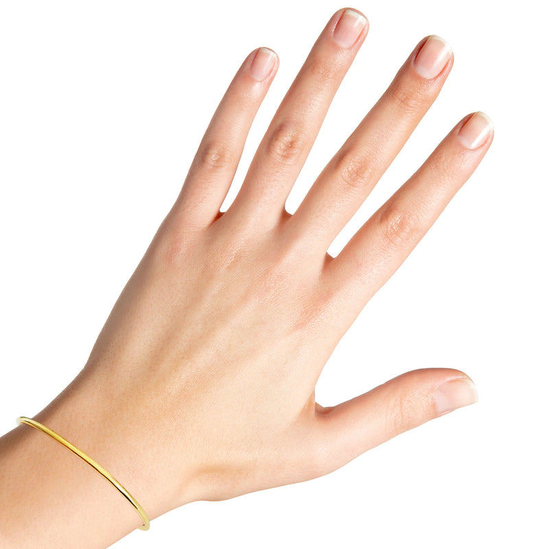 22K/ 916 Yellow Gold Classic Round Tube Bangle 2mm