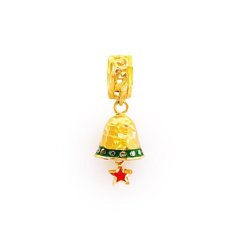 22K (916) Yellow Gold Ladies/ Women/ Kids Christmas Pendant/ Charm