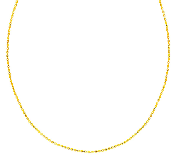 22K (916) Yellow Gold Ladies/ Women/ Kids Flat Cable Necklace