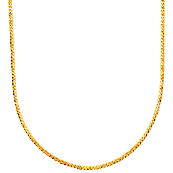 22K (916) Yellow Gold Unisex Curb Necklace