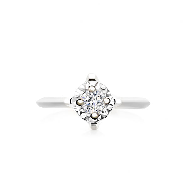 9K (375) White Gold Ladies/ Women Cubic Zirconia Ring