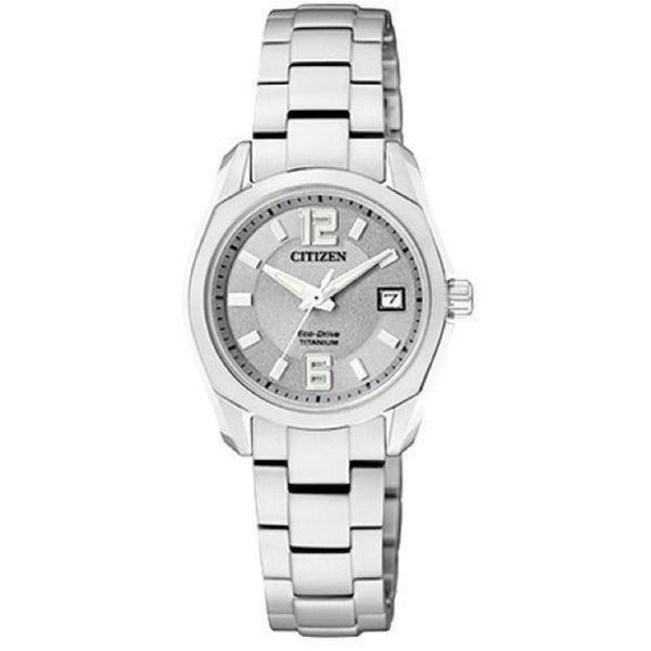 Citizen Eco-Drive Ladies EW2101-59A Grey Dial Super Titanium Stainless Steel Watch