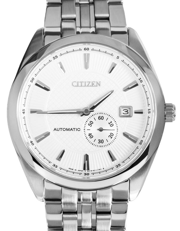 Citizen Men NJ0030-58A White Dial Stainless Steel Watch