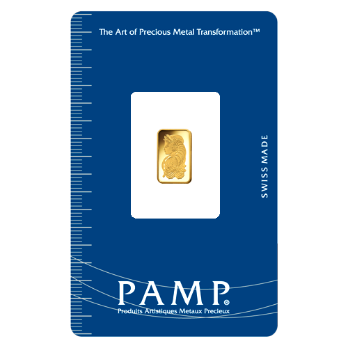 PAMP Suisse 24K (999.9) Gold Lady Fortuna Collectible Gold Bar 1 gram