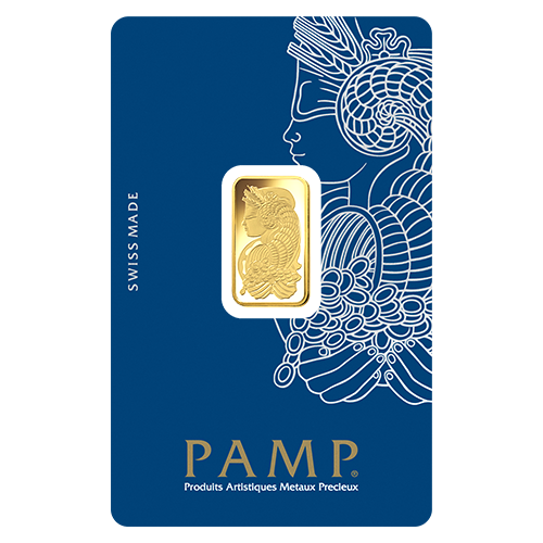 PAMP Suisse 24K (999.9) Gold Lady Fortuna Collectible Gold Bar 5 gram