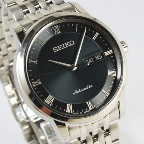 Seiko Presage Men SRP697J1 Black Dial Stainless Steel Watch