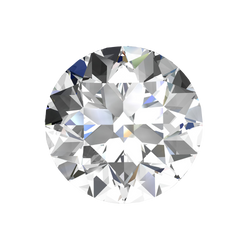 GIA Certified Round Loose Diamond, 0.33 Carat, F Colour, IF, H&A