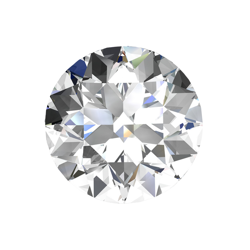 AGL Certified Round Loose Diamond, 0.66 Carat, G Colour, VS2