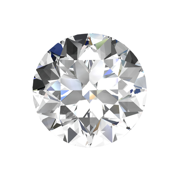 Global Gemological Certified Round Loose Diamond, 0.58 Carat, H Colour, VS2