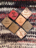 Knitting Tags - Hem Tags - Crochet Tags - Sewing Tags - Leather tags - Garment Tags - Product Tags - Knitting Labels - Set of 25 - Diamonds