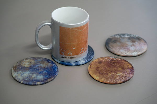 Glass Planet Coasters - Set of 4