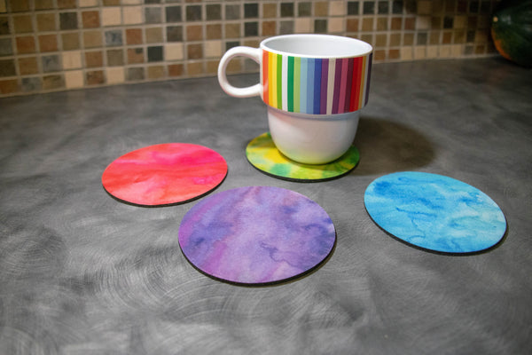 Rainbow Neoprene Coasters