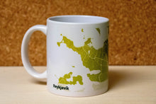 Load image into Gallery viewer, Personalized GREEN City Map Mug